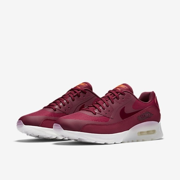 Womens Nike Air Max 90 Ultra 845110 600 Dark Red White Sneakers Sz 6M